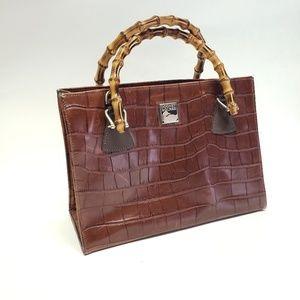 Dooney & Bourke Embossed Leather Croco Tote Purse